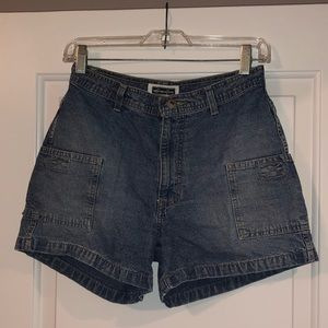 Blue Jean High Waisted Denim Old School Shorts